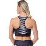 Top Fitness Feminino Rock Fit Trisquel Preto