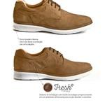 Sapato Casual Leve Masculino Sapatoterapia Taupe 2.0