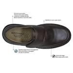 Sapato Masculino Velcro Super Leve Sapatoterapia Dark Brown Versa