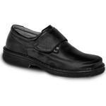 Sapato Masculino Velcro Super Leve Sapatoterapia Preto Versa