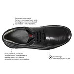 Sapato Casual Comfort Sapatoterapia Preto New Track