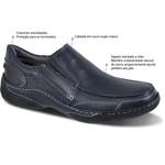 Sapato Casual Pump Sys Sapatoterapia Marinho e Branco