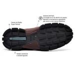 Bota Masculina Conforto Sapatoterapia Amêndoa Tracker