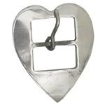 Fivela Coração para Loro 32 mm Inox