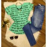 T-shirt Escritas - Verde