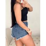 Shorts Azul Claro Com Amarra