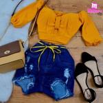 Shorts Jeans Melinda Com Cordão