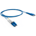 Cordao duplex conectorizado sm lc-spc/lc-spc 5.0m - cog - azul (a - b)
