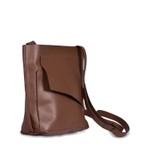 Bolsa Transversal Couro Chocolate 620 Josi