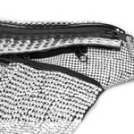 Pochete de Strass e couro legítimo