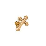 Brinco Masculino Cruz Ouro Aço Inox - 1 PEÇA (Não é o par)