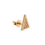 Brinco Triângulo Craquelado Maior Semijoia Ouro - 1 PEÇA (Não é o par)