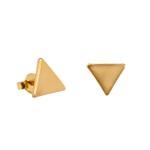 Brinco Triângulo Liso Semijoia Ouro - 1 PEÇA (Não é o par)