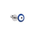 Brinco Olho Grego Resinado Aço Inox - 1 PEÇA (Não é o par)