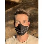 Máscara Tecido Aplique Strass Zig Zag Cor 5.37