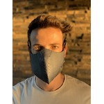 Máscara Couro Legítimo Azul Cor 7.2 (Escrever cor desejada no final do pedido)