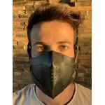 Máscara Couro Legítimo Preto Modelo 7.1 (escrever cor desejada no final do pedido )