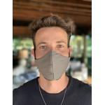 Máscara Tecido Lavável Bicolor Cinza Escuro/Preto Cor 2.2