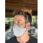 Máscara Tecido Lavável Monocromática Cinza Cor 6.1