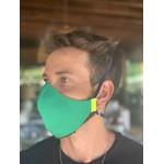 Máscara Tecido Lavável Laranja/Verde/Militar Cor 3.2