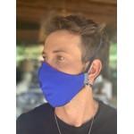 Máscara Tecido Lavável Tricolor Vermelho/Azul Cor 3.4