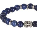 Pulseira Buda Mp453 Pedra Natural Lápis Lazuli