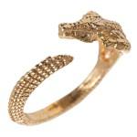 Anel Regulável Masculino Crocodilo Ouro