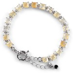 Pulseira Riviera Champagne 6x6mm RB