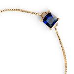 Pulseira Zircônia Marinho 6x6mm Ouro