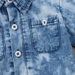 Body Camisa Jeans Manchado