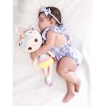 Body Bebe Xadrez Azul