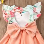 Vestido Festa Florido Rosa