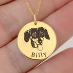 Pingente Cachorro Dachshund em Ouro 18K com Nome Personalizável