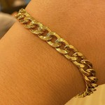 Pulseira Groumet de Ouro 18K 21cm