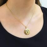 Pingente Ouro 18K de São Bento Duplo Aplique de Resina Preto