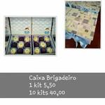 KITS DE CARTONAGEM PARA CAIXA DE 9 BRIGADEIROS - 12x12x4 - 10 kits