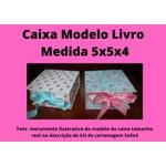 KITS DE CARTONAGEM PARA CAIXA LIVRO TAMANHO 5X5X4
