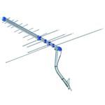 KIT ANTENA EXTERNA 4em1 - FM VHF UHF PARA TV DIGITAL + MASTRO + CABO