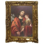 Quadro Clássico - St Joseph And Child Jesus By Pieter Van