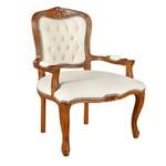 Cadeira Luis Xv Em Madeira Maciça Com Capitone