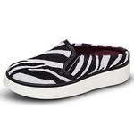 Mule Slip On Feminino Zebra Heana