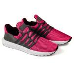 Tênis Caminhada Em Nylon e Couro Camurça Pink Cinza 200