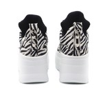 Tênis Mvp Fitness Plataforms Low - Zebra White