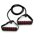 Elastico Extensor para Exercicios com Pegada - Forte Preto