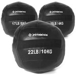 Kit Wall Ball 4kg - 8kg - 10kg Natural Fitness