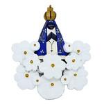 Arranjo Nossa Senhora com Flores Brancas