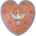 Painel de Coração Divino com Cristais