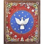 Quadro Divino com Cristais - Azul e Vermelho