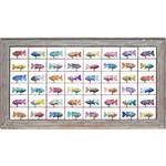 Painel Grade de Peixes com 48 pçs.