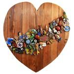 Painel Talha de Coração com Esculturas